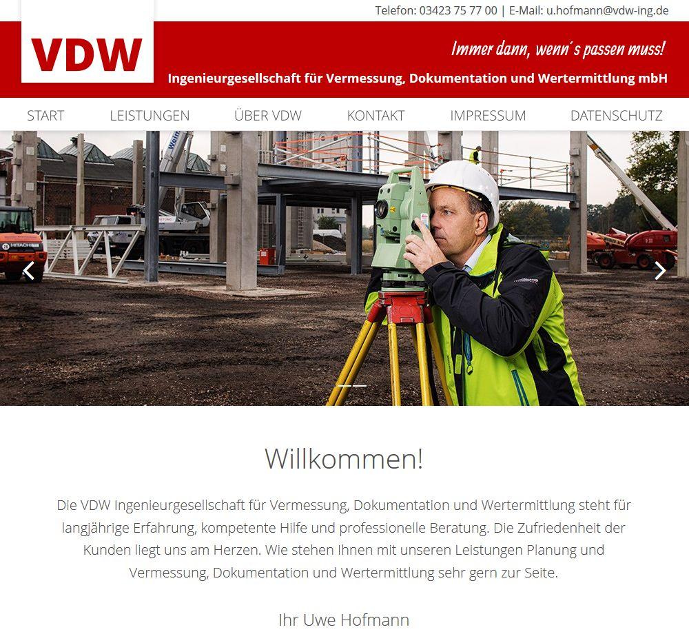 VDW – Ingenieurgesellschaft für Vermessung, Dokumentation und Wertermittlung mbH
