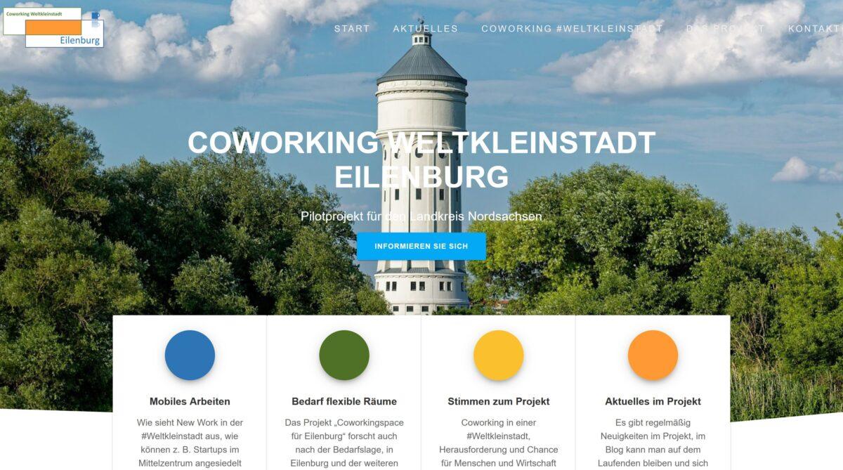 """Projektwebsite """"Coworking Weltkleinstadt"""" online"""